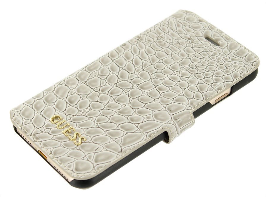 Guess Glossy Croco Bookcase - iPhone 8/7 hoesje