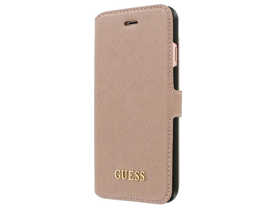 Guess Saffiano Bookcase - iPhone 8/7 hoesje