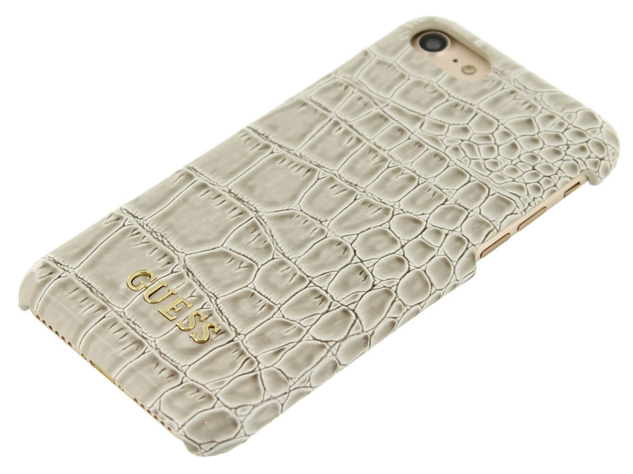 Guess Glossy Croco Hard Case - iPhone 8/7 hoesje