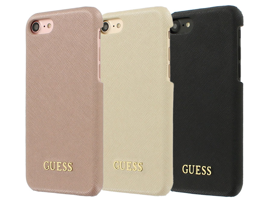 Guess Saffiano Hard Case - iPhone 8/7 hoesje