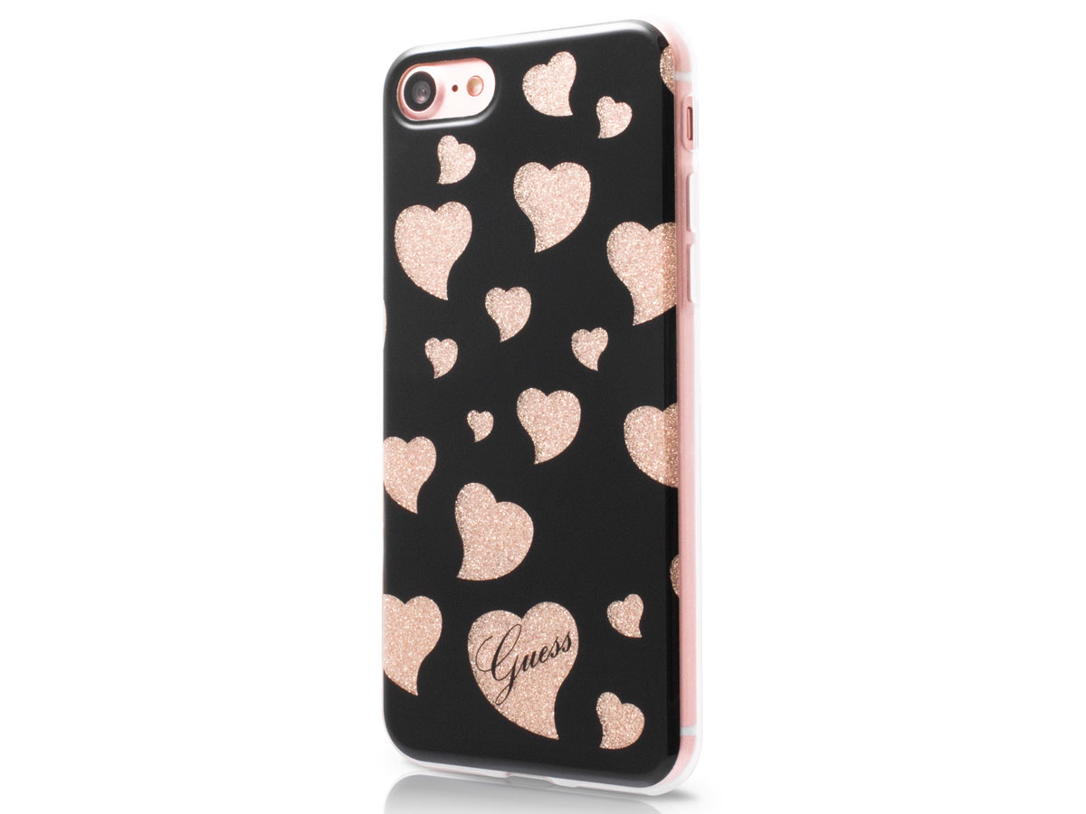 Guess Hearts TPU Skin Case - iPhone 8/7 hoesje