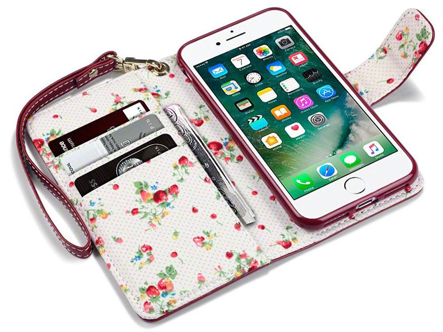 Terrapin Flower Bookcase Iphone 8 7 Hoesje