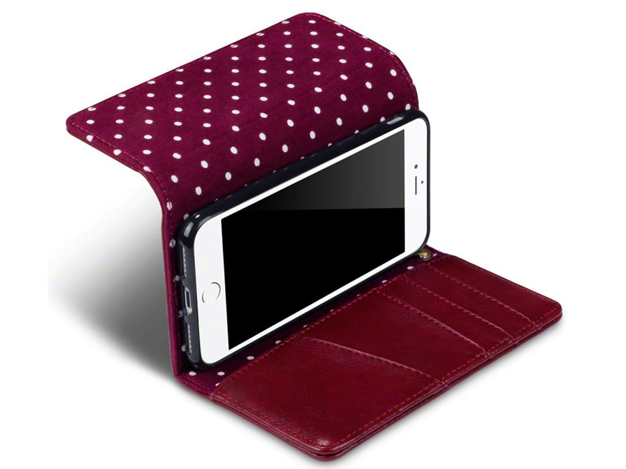 Covert PolkaDot Trifold Wallet Case - iPhone 8/7 hoesje