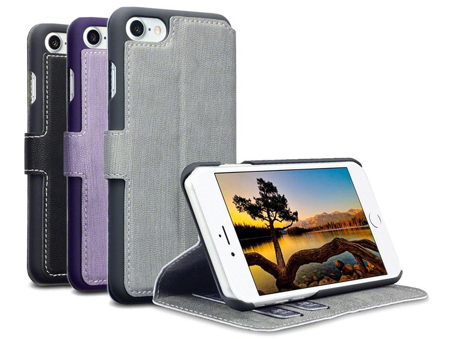 Covert UltraSlim Bookcase - iPhone SE 2020 / 8 / 7 hoesje Zwart