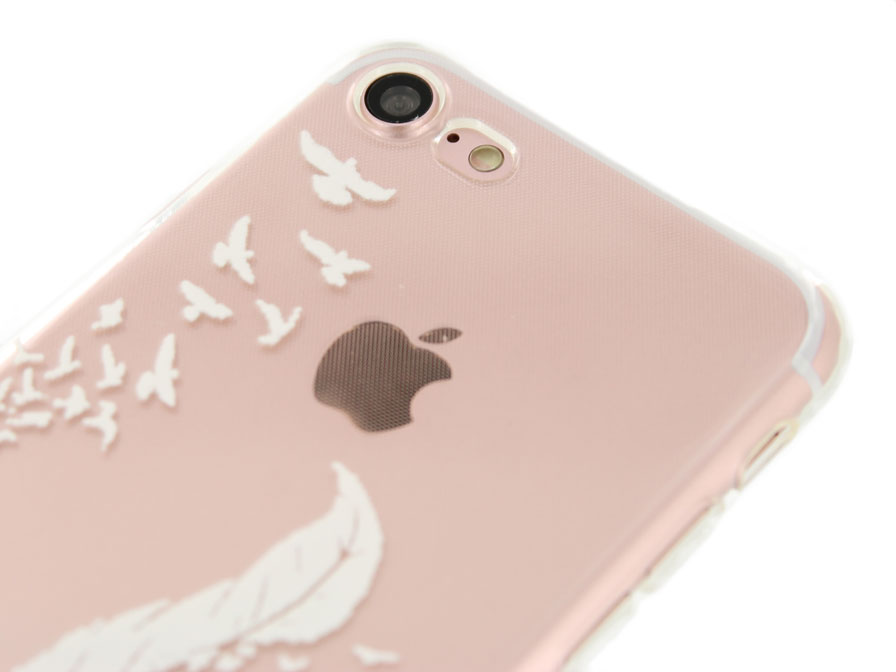 Crystal TPU Case Feathers - iPhone 7 hoesje