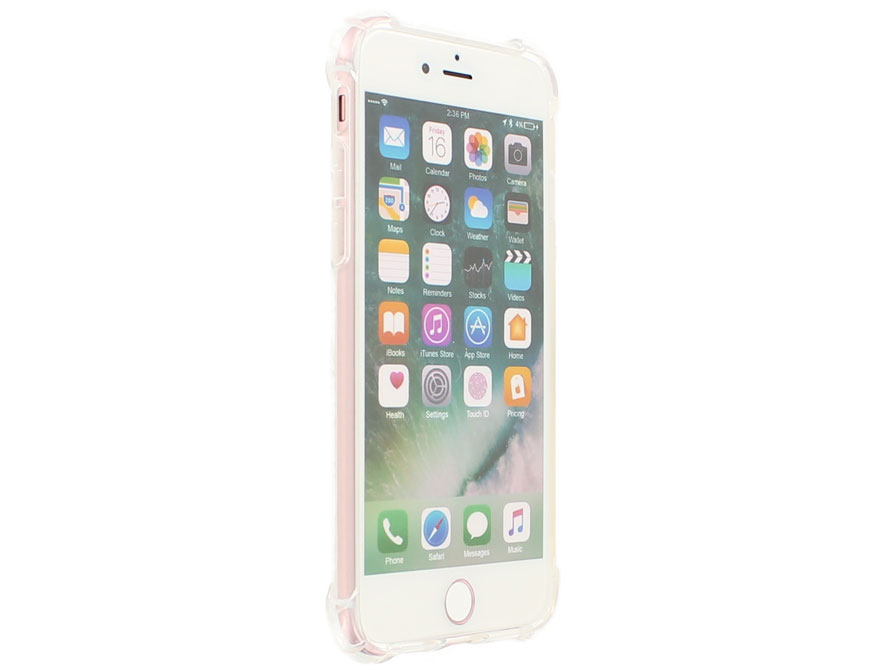 Crystal TPU Case Rugged - Doorzichtig iPhone 8/7 hoesje