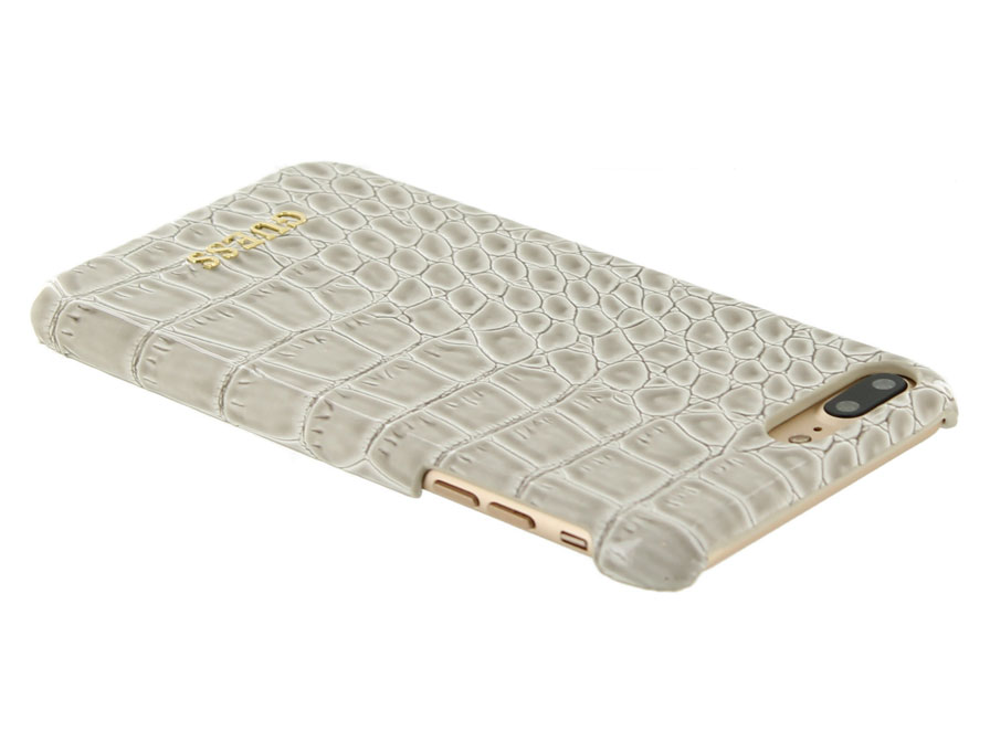 Guess Glossy Croco Hard Case - iPhone 8+/7+ hoesje