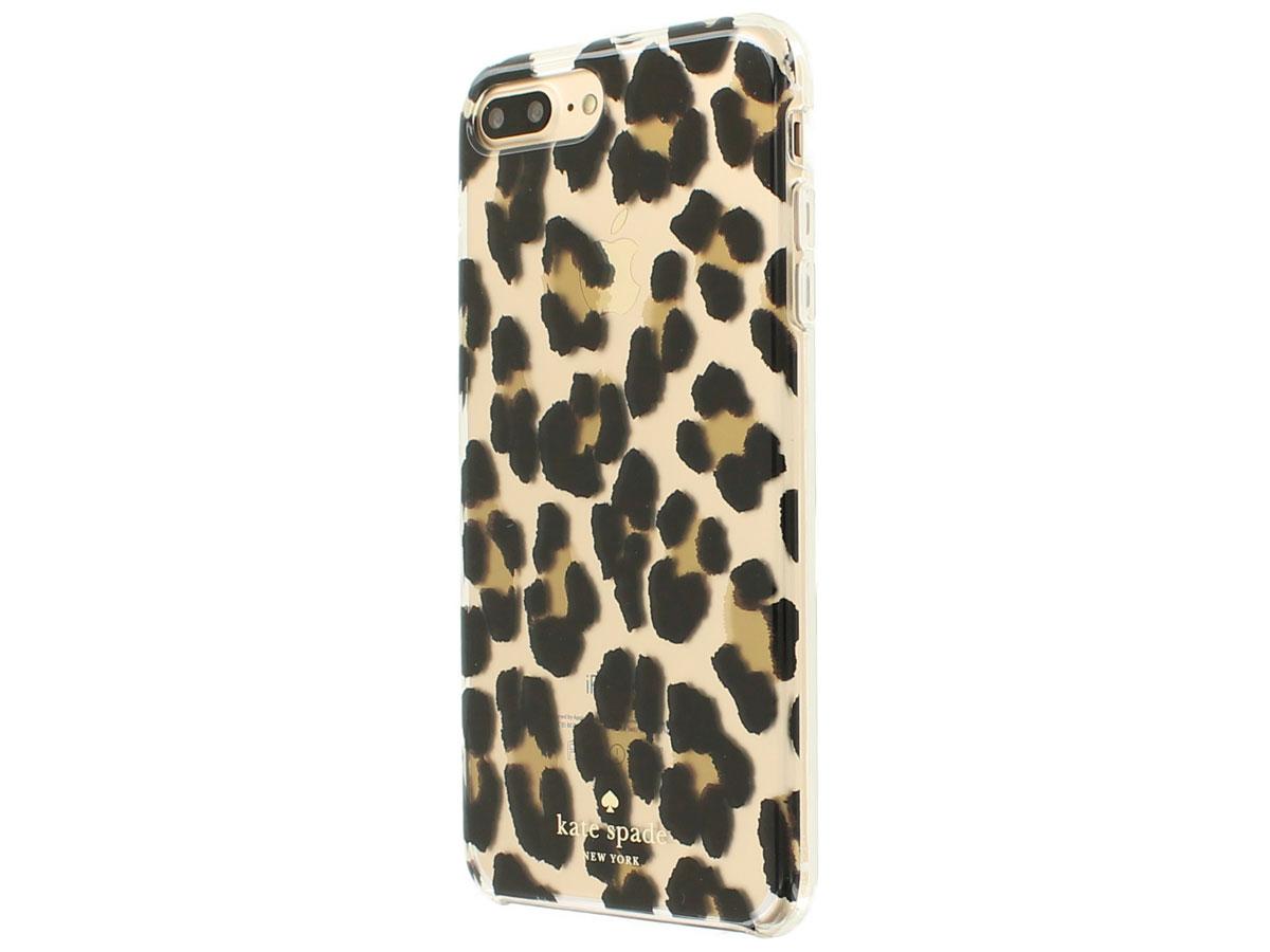 size 40 e8ee9 2a536 Kate Spade Leopard Clear Case - iPhone 8+/7+ Hoesje