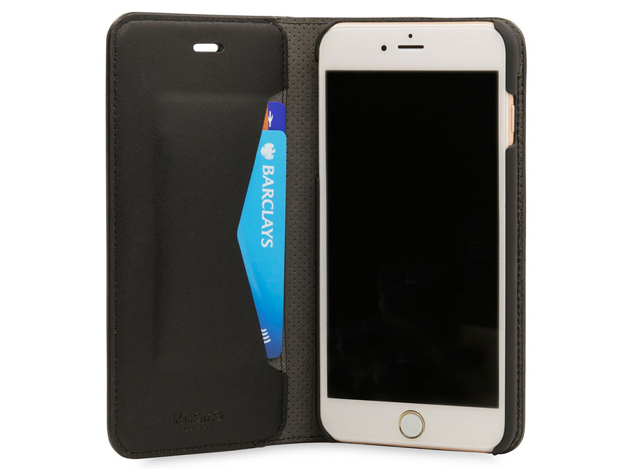 Knomo Premium Folio Case - Leren iPhone 8+/7+ Hoesje