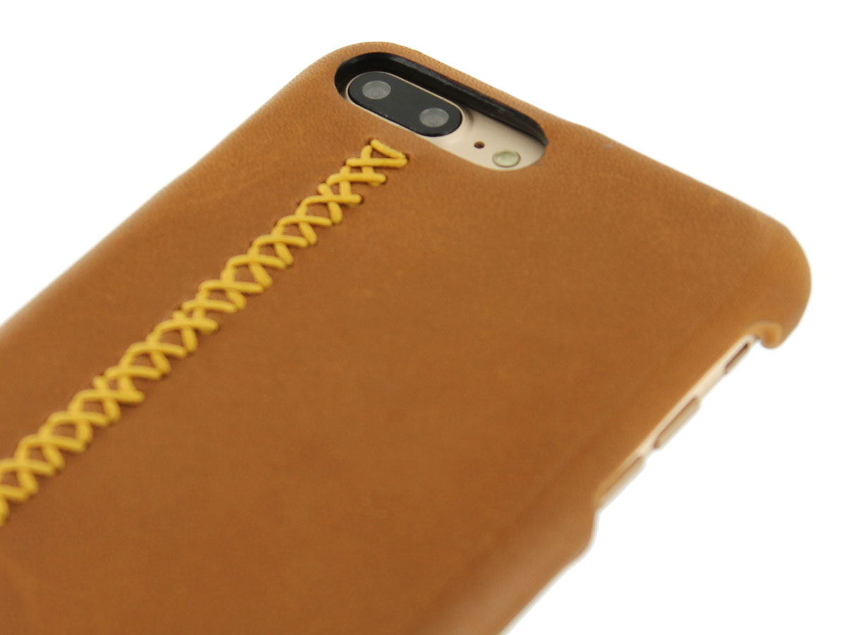 Pierre Cardin Stitches Case Leer - iPhone 8+/7+ hoesje
