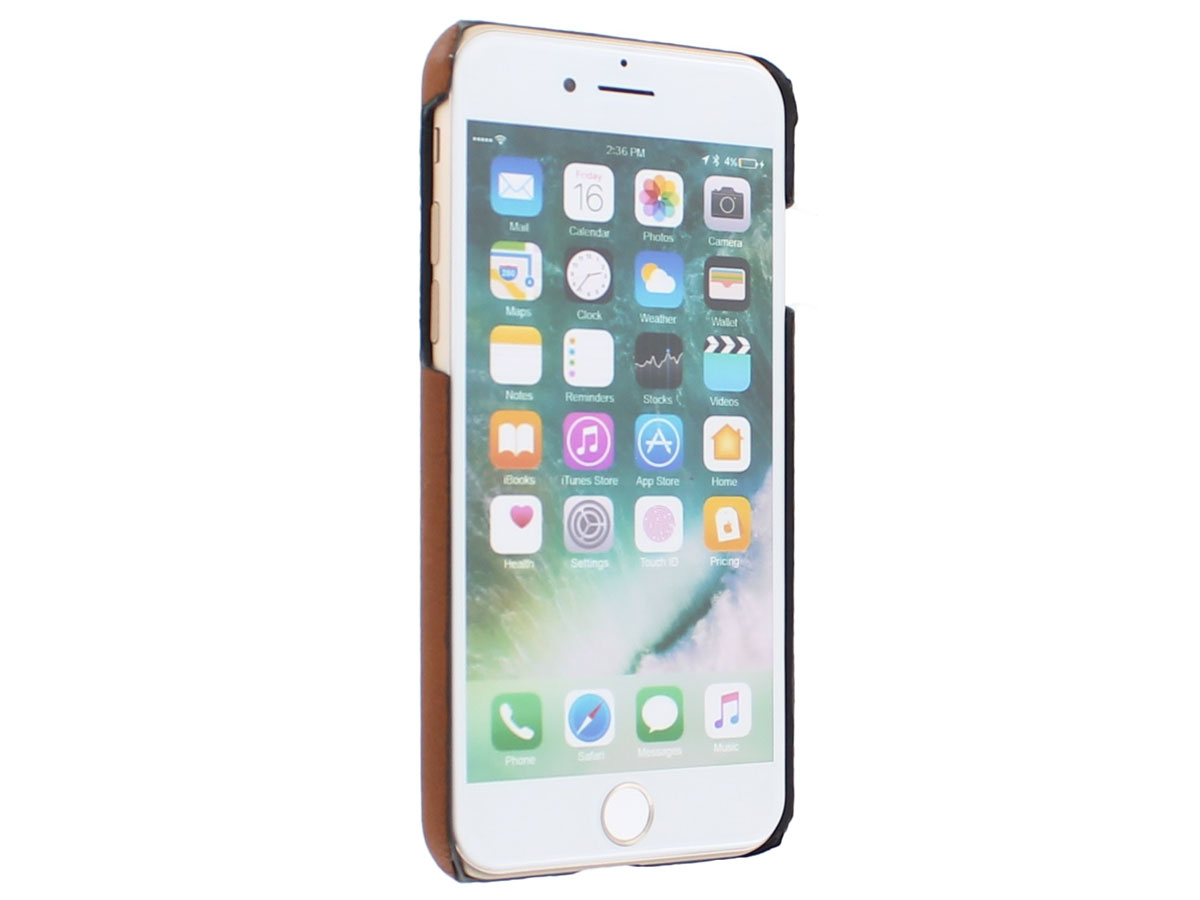 Agna Magneat 2in1 Case Cognac Leer - iPhone SE 2020 / 8 / 7 hoesje