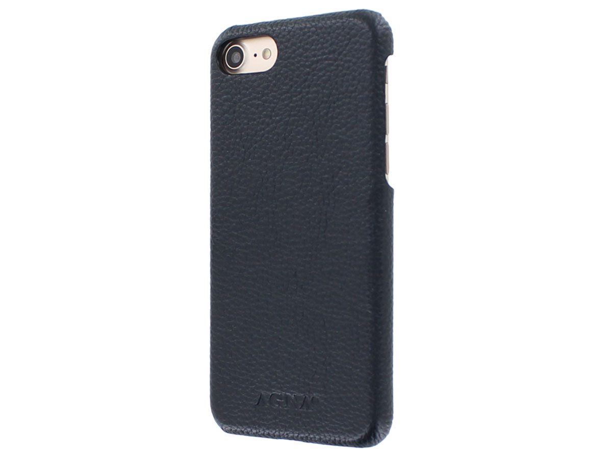Agna Magneat 2in1 Case Navy Leer - iPhone SE 2020 / 8 / 7 hoesje