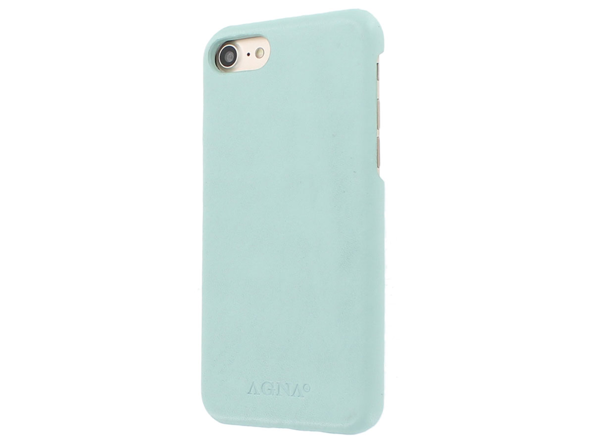 Agna Magneat 2in1 Case Mint Leer - iPhone 8/7 hoesje