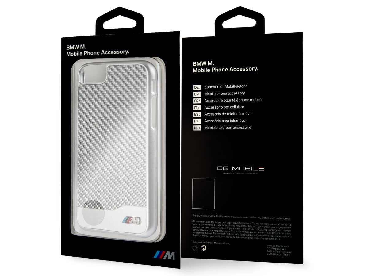 BMW Carbon Aluminium Case - iPhone 8/7 hoesje