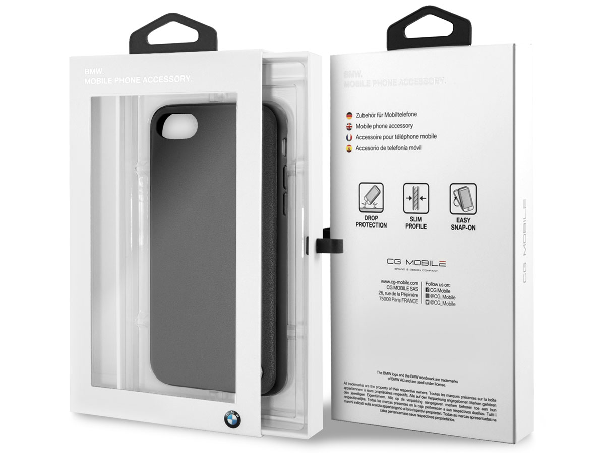 BMW Leather Back Case - iPhone SE 2020 / 8 / 7 / 6(s) hoesje Leer