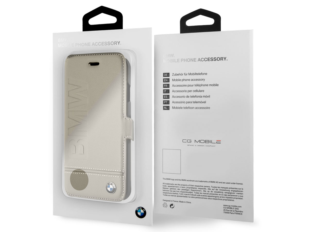 BMW Logo Bookcase - Leren iPhone 8/7 hoesje