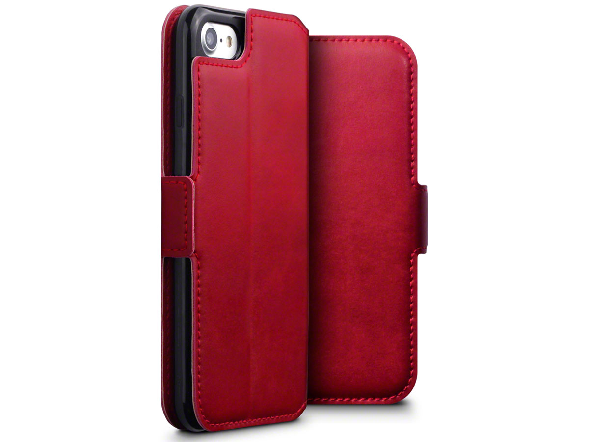 CaseBoutique Slim Book Rood Leer - iPhone SE 2020 / 8 / 7 hoesje
