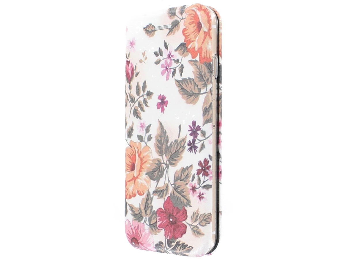 Slim Elegant Bookcase Floral - iPhone 8/7 hoesje