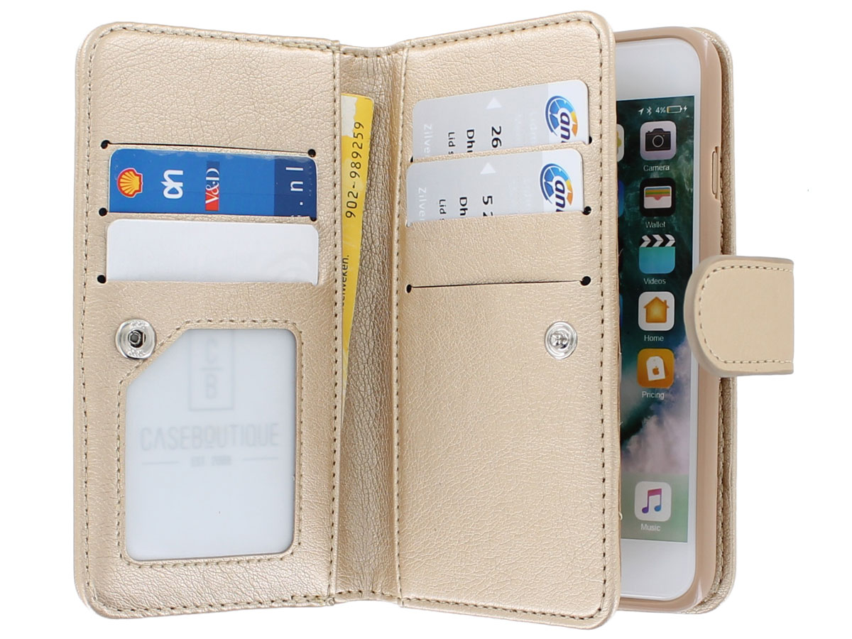 Full Wallet Book Case XL Goud - iPhone SE 2020 / 8 / 7 hoesje