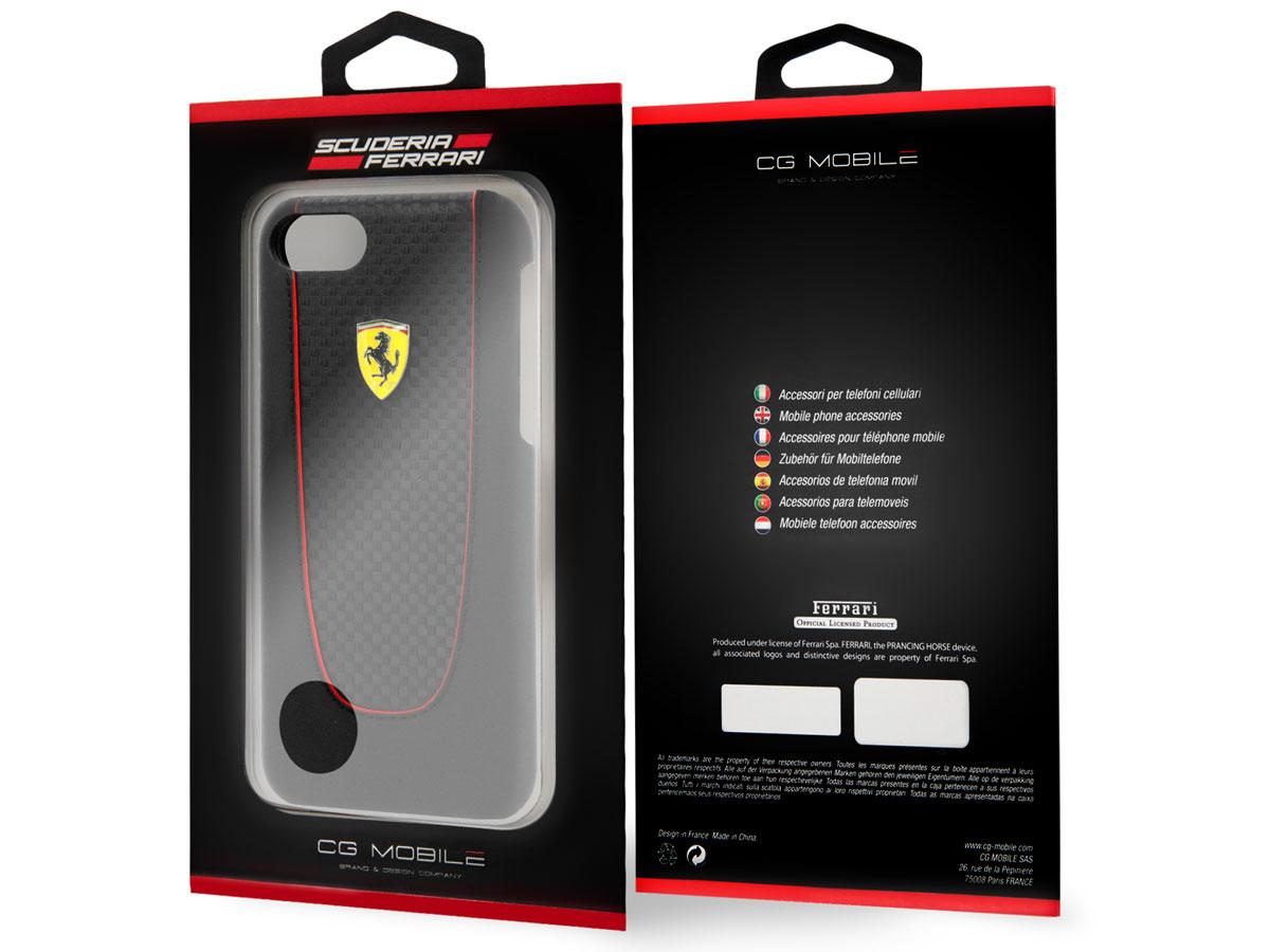 Ferrari Pit Stop Hard Case Zwart - iPhone 8/7/6 Hoesje