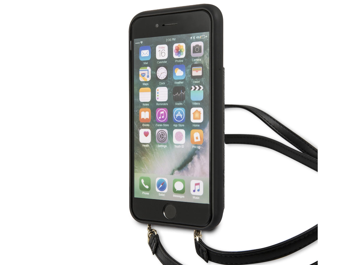 Guess 4G Crossbody Case Grijs - iPhone SE 2020 / 8 / 7 / 6(s) hoesje