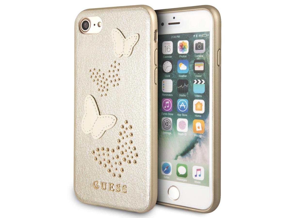 Guess Butterfly Studs Case Goud - iPhone SE 2020 / 8 / 7 / 6(s) hoesje