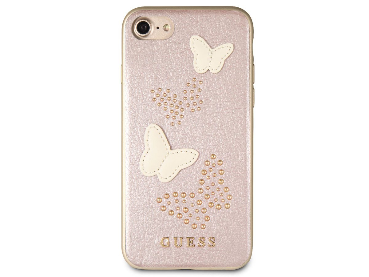 Guess Butterfly Studs Case Rosé - iPhone 8/7/6s hoesje