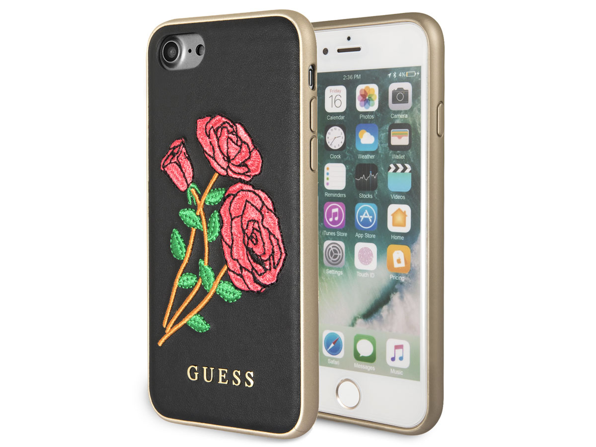 Guess Embroidered Rose Case - iPhone 8/7/6s hoesje