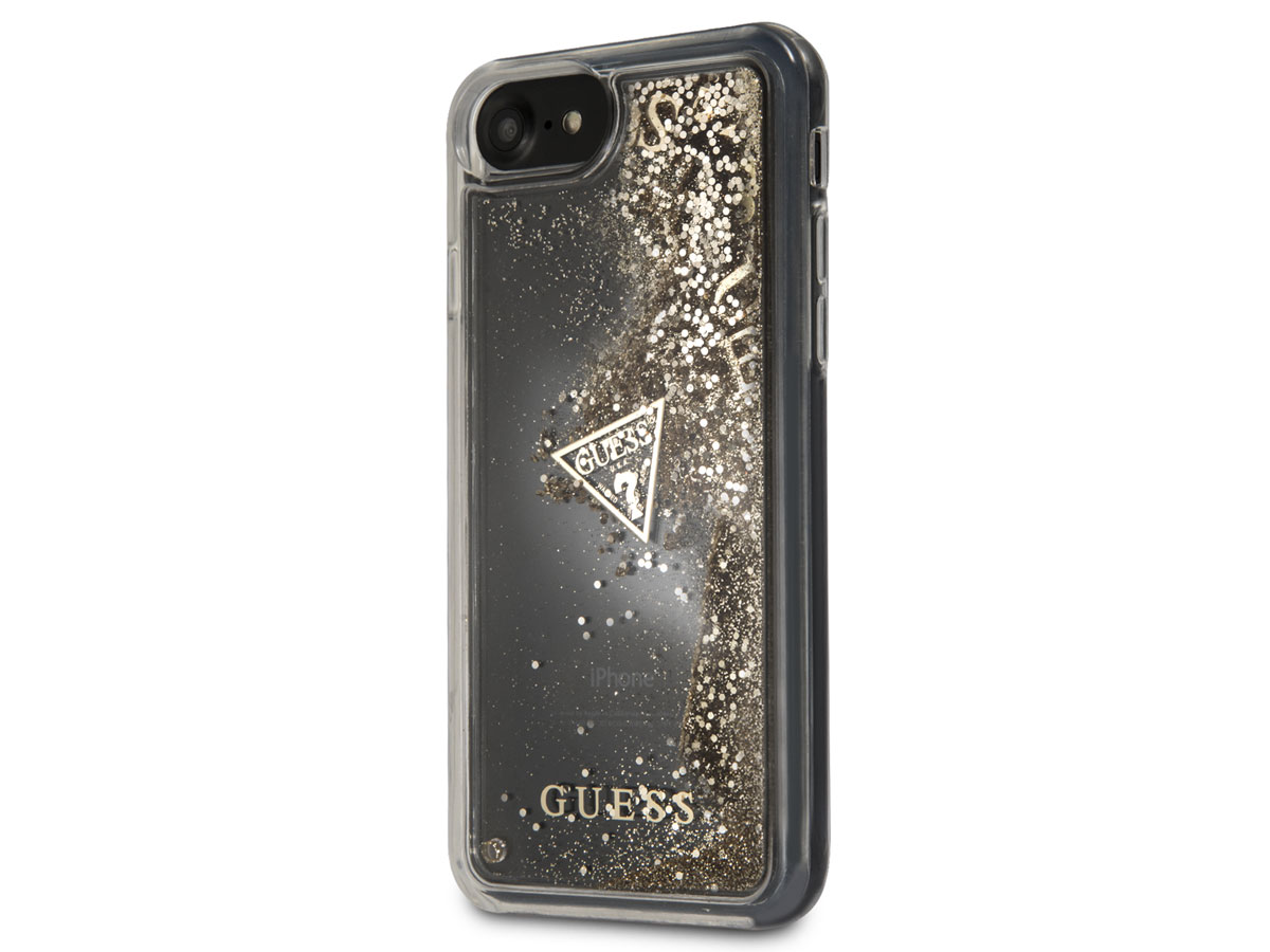 Guess Floating Logo Case Goud - iPhone 8/7/6 hoesje