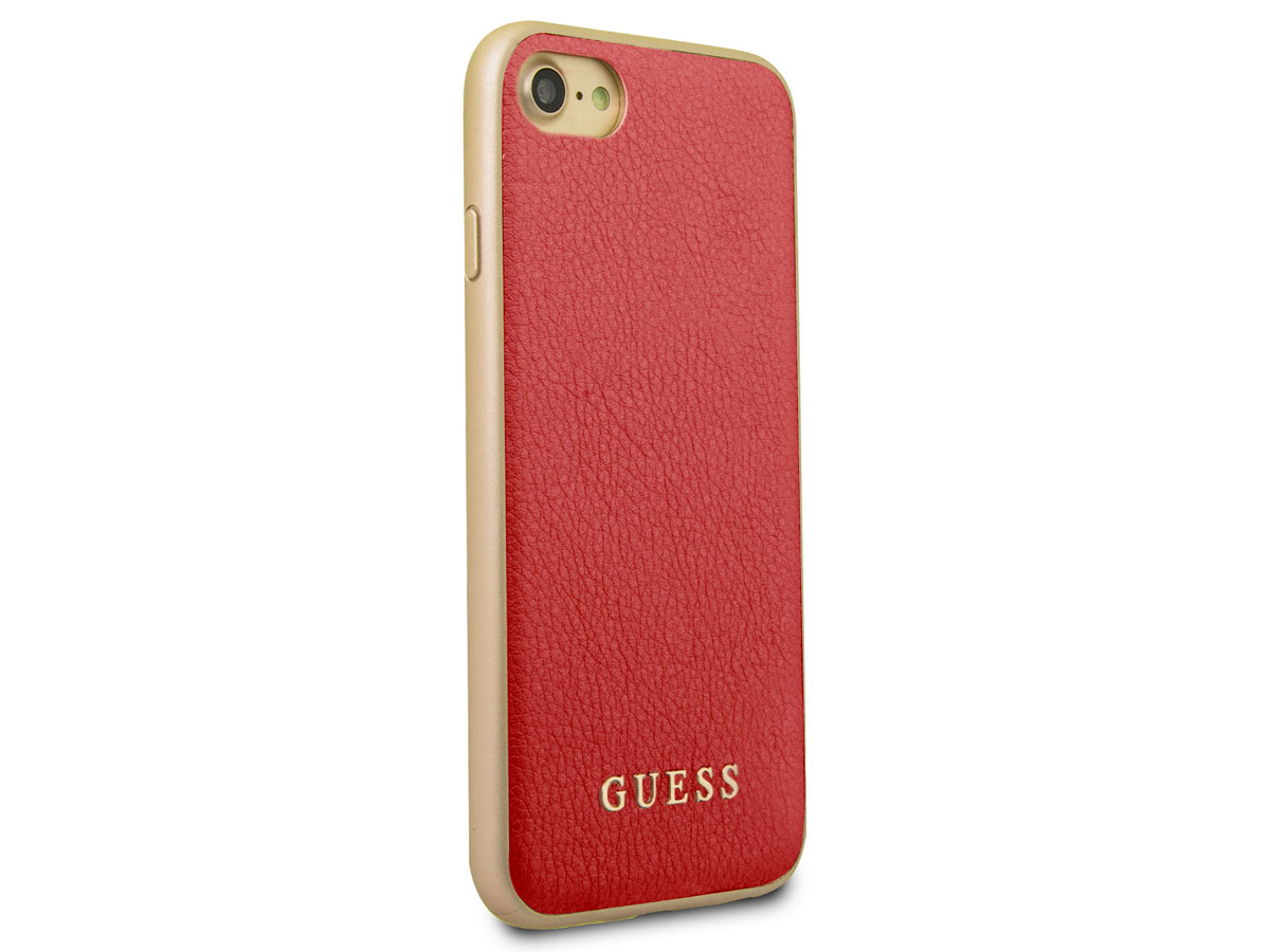 Guess Iridescent Case Rood - iPhone 8/7/6s hoesje