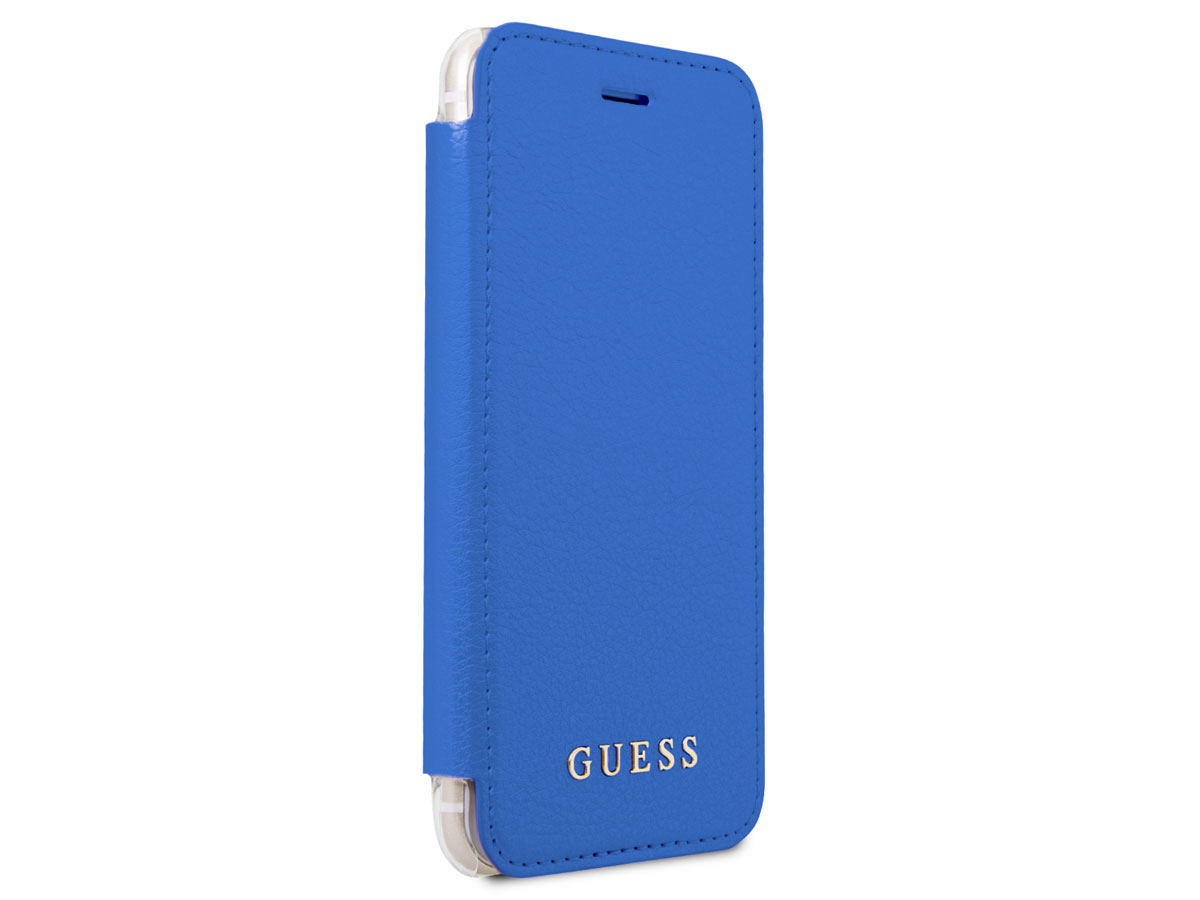 Guess Iridescent Bookcase Blauw - iPhone 8/7/6s hoesje