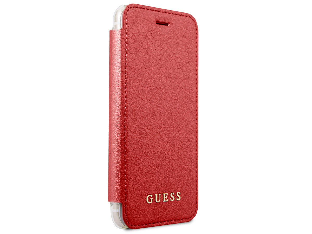 Guess Iridescent Bookcase Rood - iPhone 8/7/6s hoesje