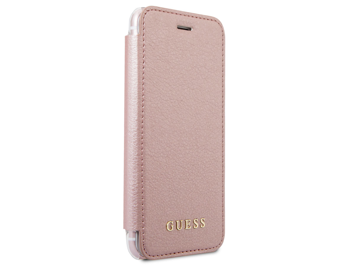 Guess Iridescent Bookcase Rosé - iPhone 8/7/6s hoesje