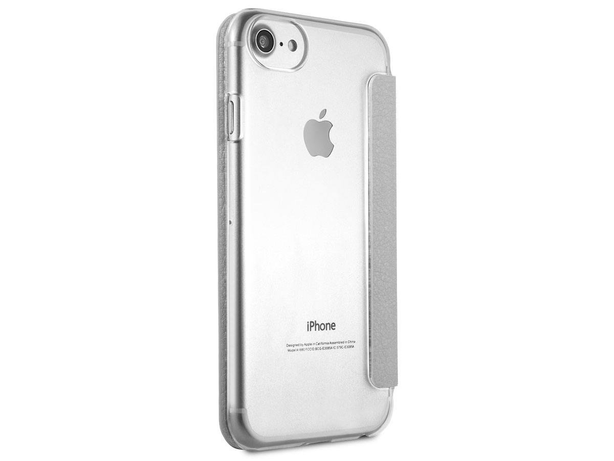 Guess Iridescent Bookcase Zilver - iPhone 8/7/6s hoesje
