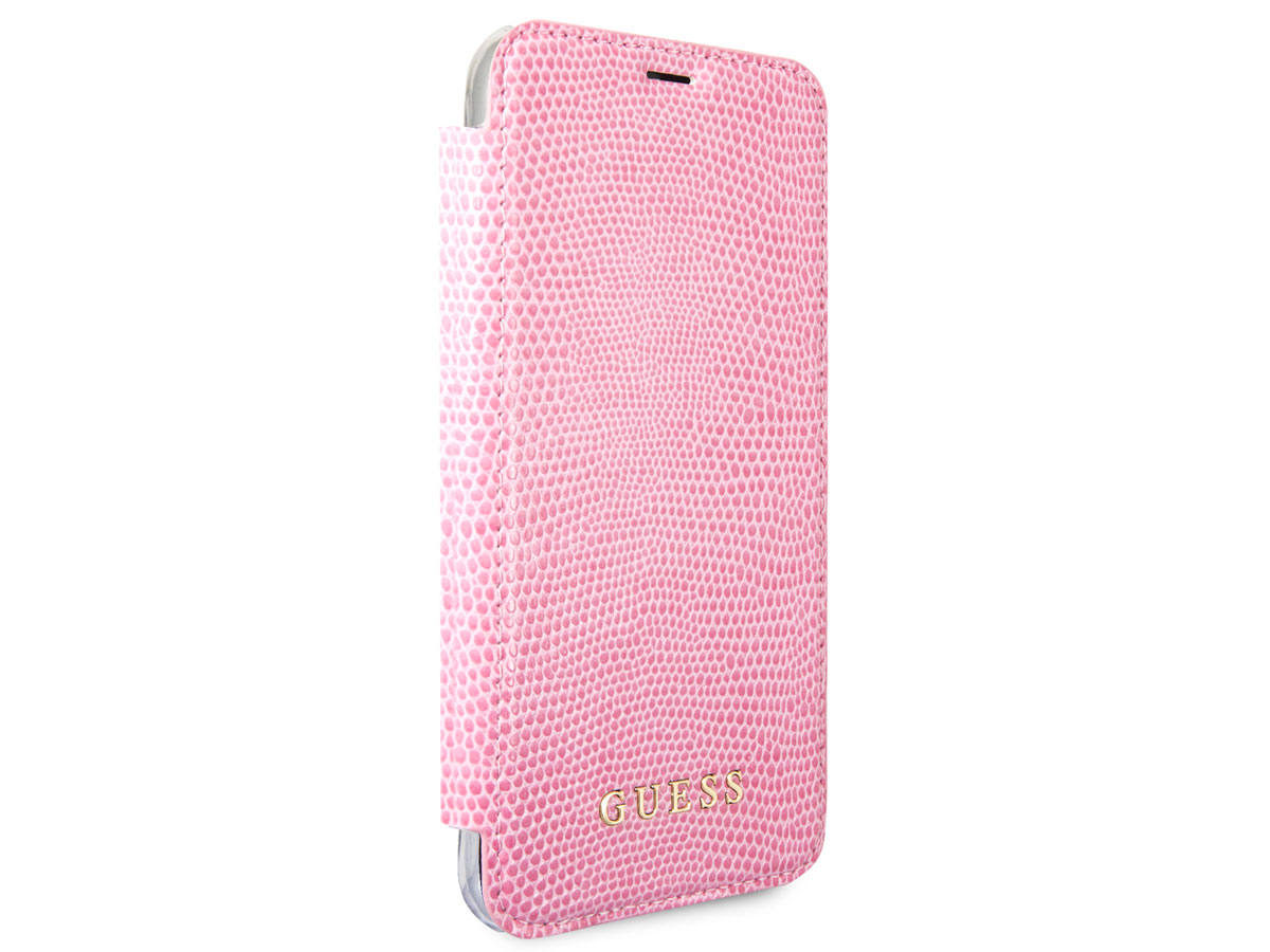 Guess Python Bookcase Roze - iPhone 8/7/6s hoesje