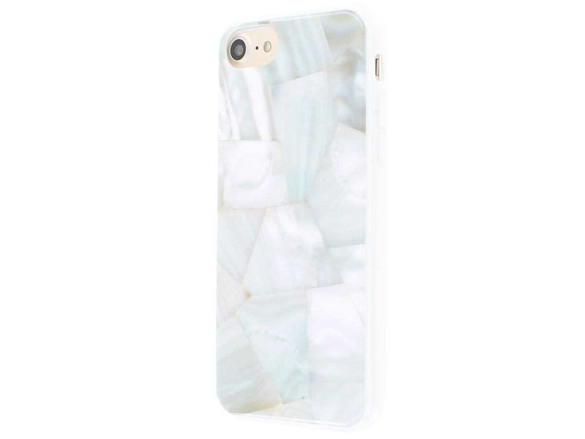 Habitu Pearl Shells Case - iPhone SE 2020 / 8 / 7 / 6(s) hoesje Wit
