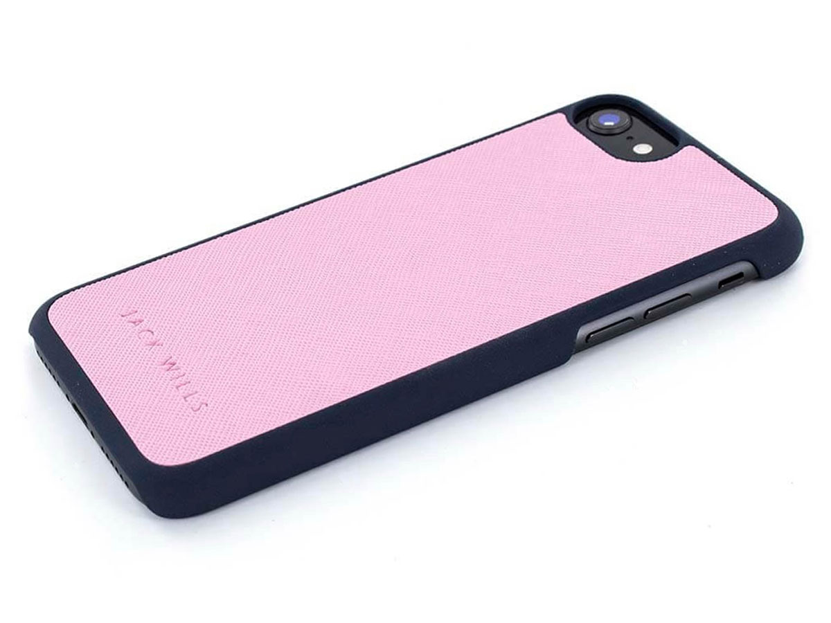 Jack Wills Saffiano Case Pink - iPhone 8/7/6 Hoesje