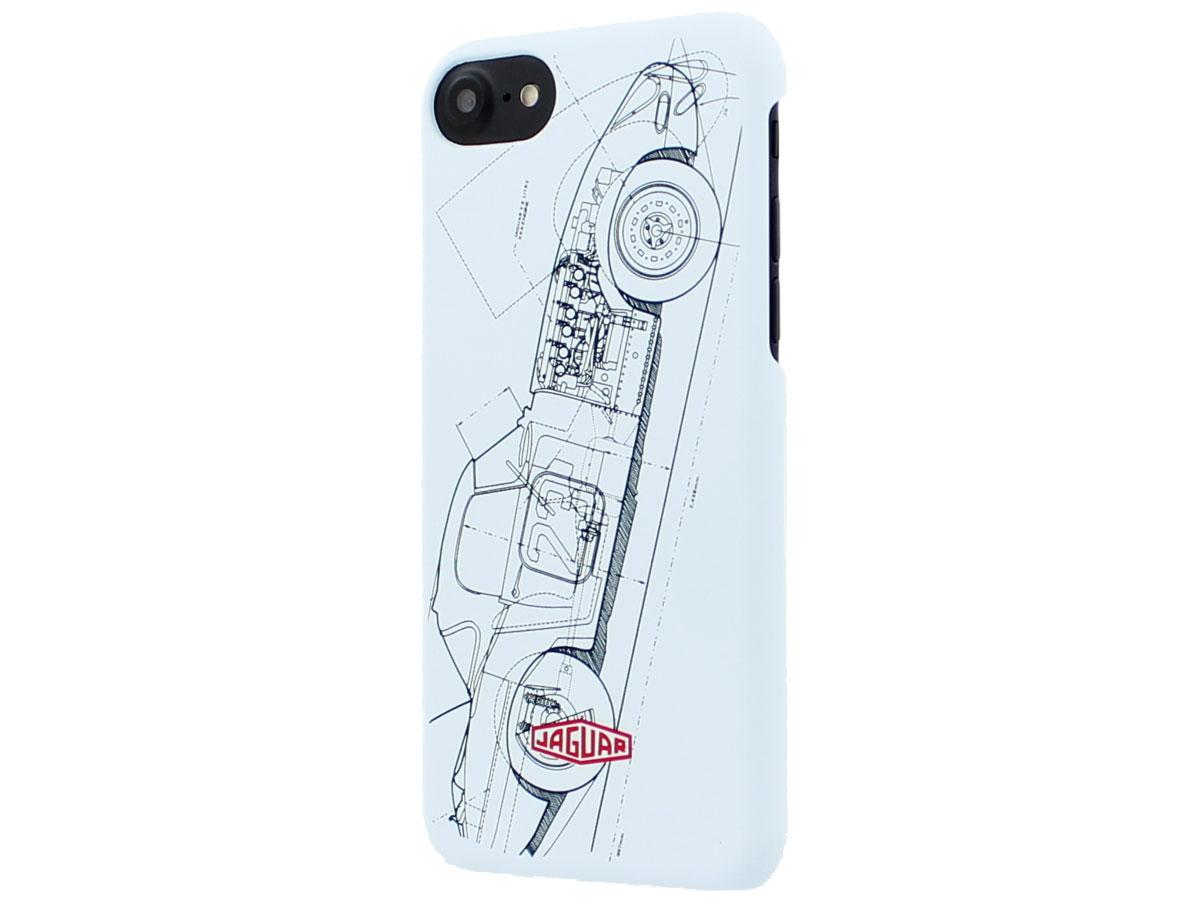 Jaguar Heritage E-Type Case - iPhone SE 2020 / 8 / 7 / 6(s) hoesje Lichtblauw