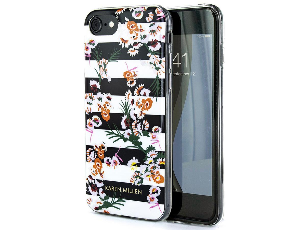Karen Millen Striped Florals Case - iPhone SE 2020 / 8 / 7 / 6(s) hoesje Bloemen Print