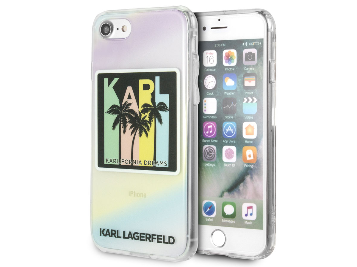 Karl Lagerfeld Karlifornia Dreams Case - iPhone SE 2020 / 8 / 7 / 6(s) hoesje Transparant