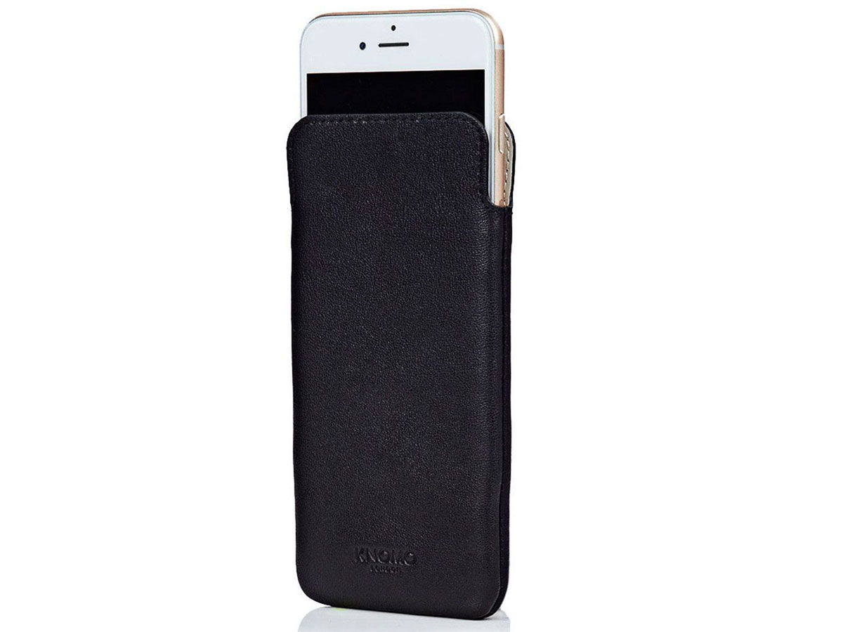 Knomo UltraSlim Sleeve - Leren iPhone 8/7/6s/6 hoesje