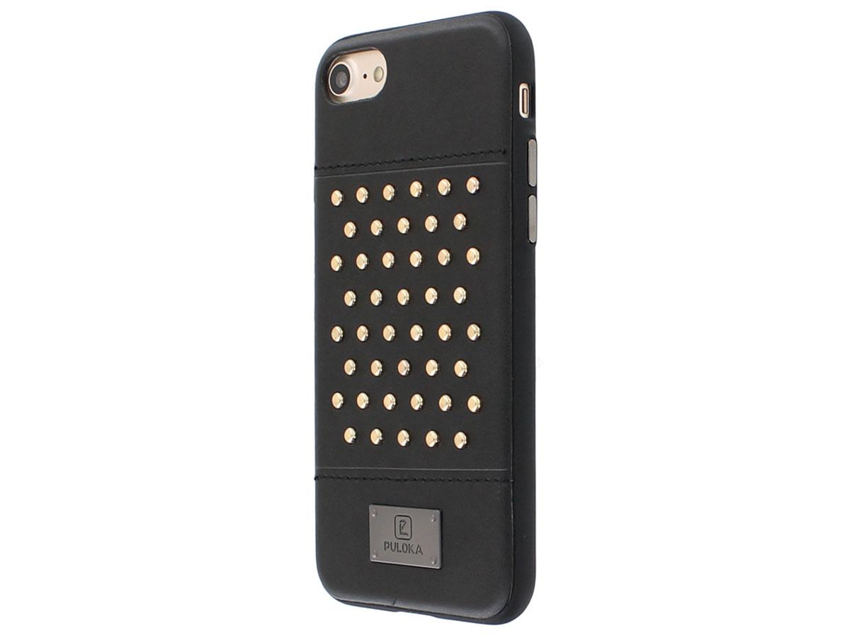 Puloka Studded Case - iPhone SE 2020 / 8 / 7 hoesje met Studs Zwart