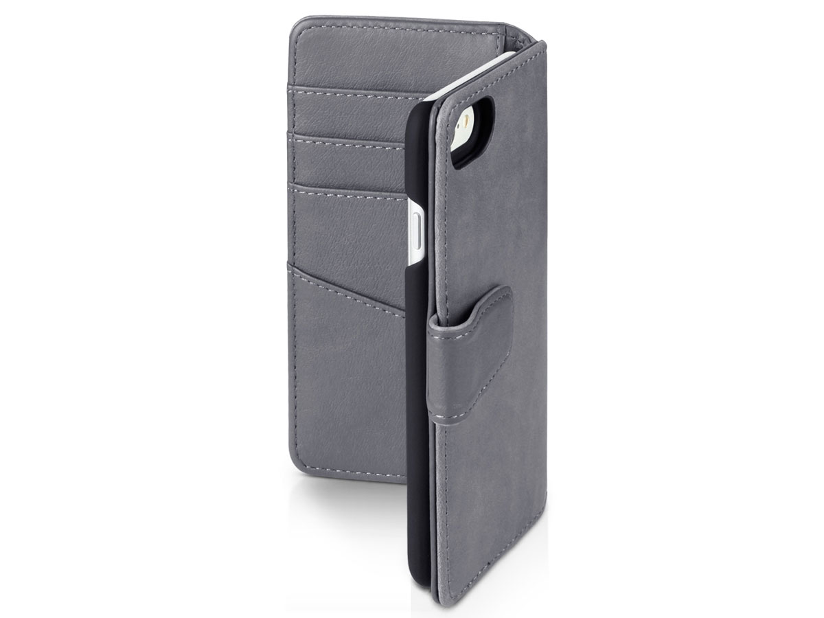 CaseBoutique Bookcase Grijs Leer - iPhone 8/7 hoesje