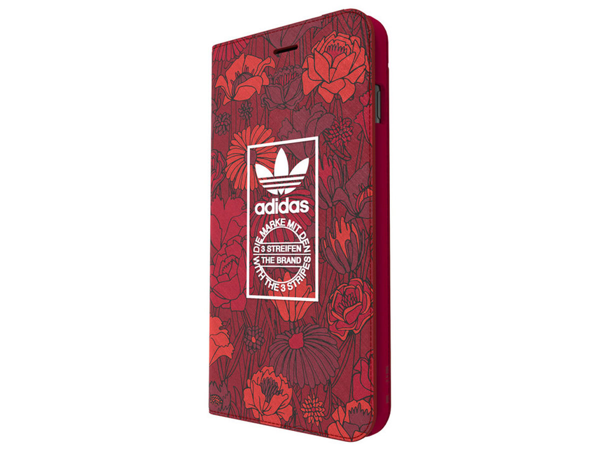 adidas Bohemian Red Booklet Case - iPhone 8+/7+ hoesje