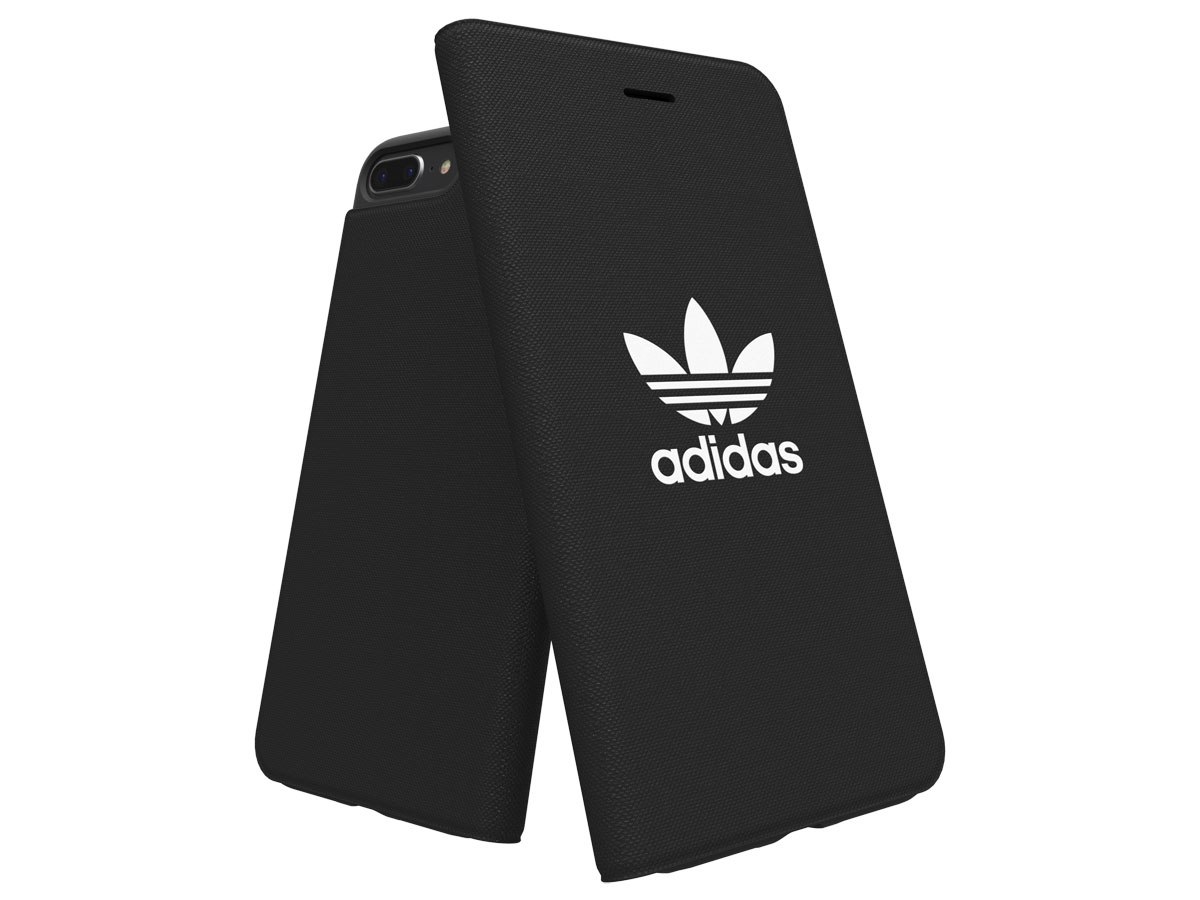 adidas ADICOLOR Booklet Zwart - iPhone 8+/7+/6+ Hoesje