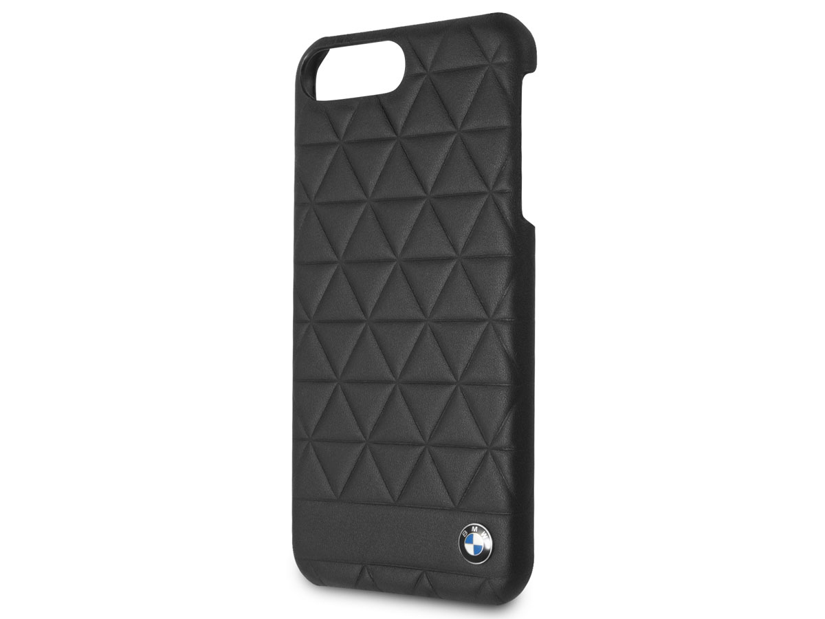BMW Hexagon Hard Case - Leren iPhone 8+/7+/6s+ hoesje