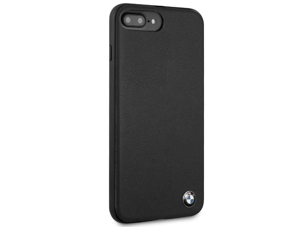 BMW Leather Back Case - iPhone 8+/7+/6+ Hoesje Leer