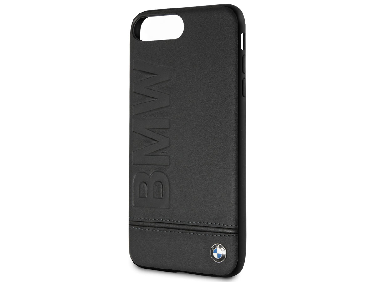 BMW Logo Hard Case - Leren iPhone 8+/7+/6+ hoesje