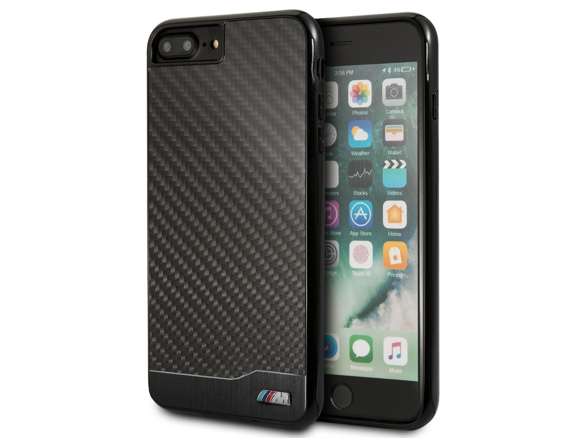 BMW Carbon Aluminium Case - iPhone 8+/7+/6+ hoesje