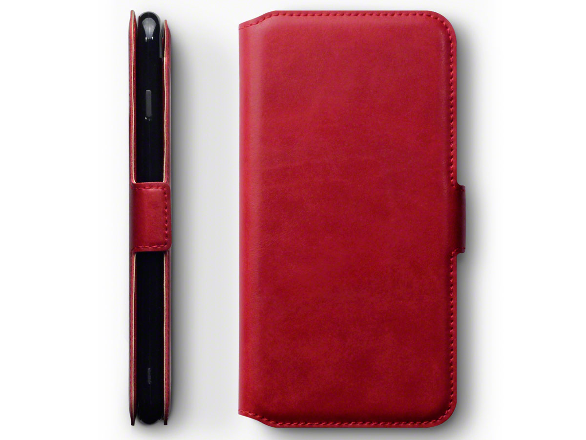 CaseBoutique Slim Rood Leer - iPhone 8+/7+ hoesje